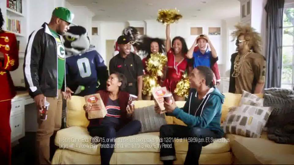 Donnabella Mortel in McDonalds commercial with Deion Sanders