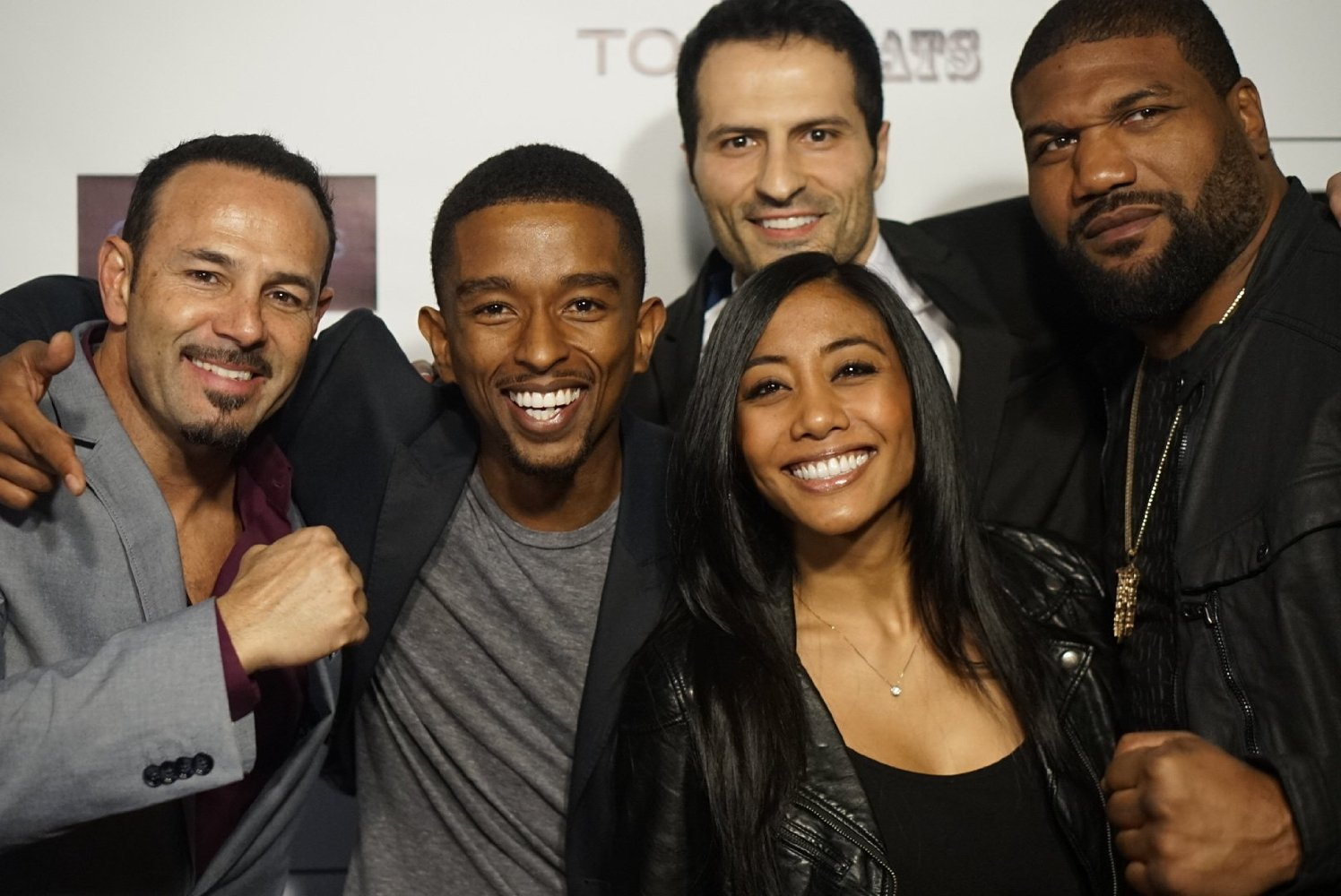 Donnabella Mortel, Kevin L Walker, Rampage Jackson, and Chavo Guerrrero Jr. at the Vigilante Diaries Premiere at Arclight Hollywood (Free Use and NO copyright exists)